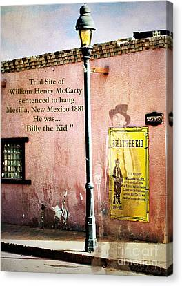 Billy The Kid Canvas Print by Barbara Chichester
