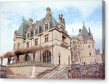 Biltmore Estates Mansion - American Castles - Asheville North Carolina Biltmore Mansion Canvas Print by Kathy Fornal