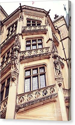 Biltmore Mansion Estate Windows - Biltmore Mansion Gothic Italian Architecture Canvas Print by Kathy Fornal