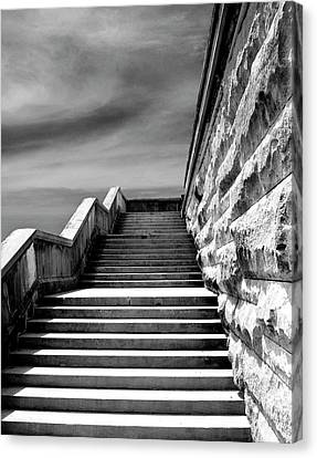 Biltmore Stairs Asheville Nc Canvas Print by William Dey