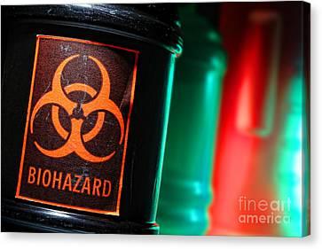 Biohazard Canvas Print by Olivier Le Queinec
