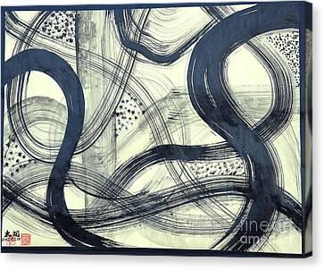 Biological Rhythms Canvas Print by Taikan Nishimoto