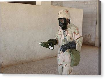 Biological Weapon Screening Canvas Print by Hhc 4th Infantry Division