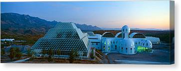 Biosphere 2 At Sunset, Arizona Canvas Print by Panoramic Images