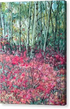 Birch Grove Canvas Print by Joey Nash