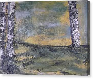 Birch Landscape Canvas Print by Karen Lillard