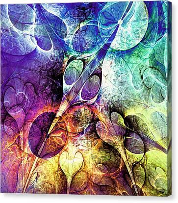 Bird And Flowers Canvas Print by Anastasiya Malakhova