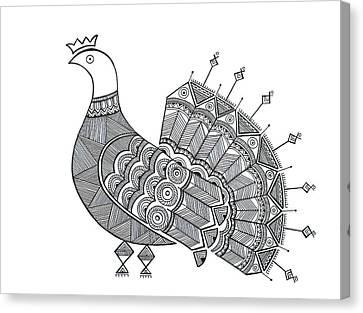 Bird Dove Canvas Print by Neeti Goswami