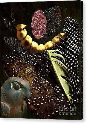 Bird God Canvas Print by Sarah Loft