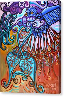 Bird Heart Iv Canvas Print by Genevieve Esson