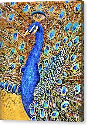 Bird Of Paradise Canvas Print by JAXINE Cummins