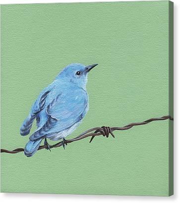 Bird On A Wire Canvas Print by Natasha Denger