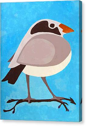 Bird On Branch Canvas Print by Will Borden