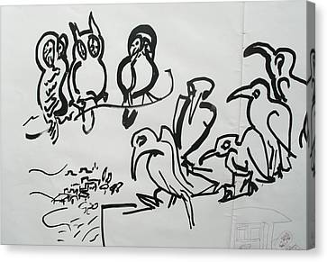 Bird Talk Canvas Print by Godfrey McDonnell