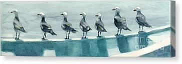 Bird Watchers Canvas Print by Faythe Mills