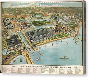 Bird's Eye View Of The World's Columbian Exposition Chicago 1893 Canvas Print by Edward Fielding