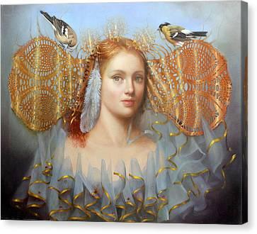 Birds Of A Feather Canvas Print by Loretta Fasan