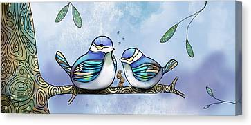 Birds Of Blue Canvas Print by Karin Taylor