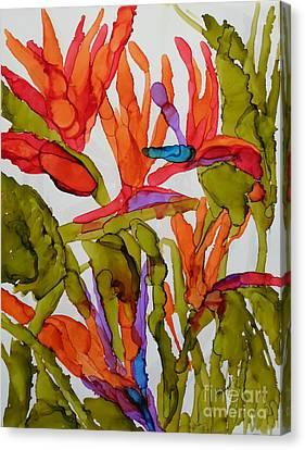 Birds Of Paradise Canvas Print by Vicki  Housel