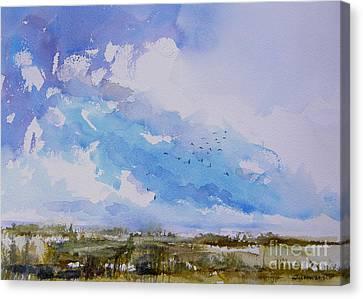 Birds Rising II Canvas Print by Julianne Felton