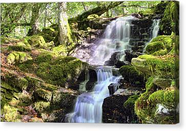 Birks Of Aberfeldy Cascading Waterfall - Scotland Canvas Print by Jason Politte
