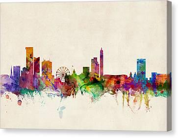 Birmingham England Skyline Canvas Print by Michael Tompsett