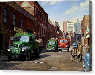 Birmingham Fruit And Veg Market. Canvas Print by Mike  Jeffries