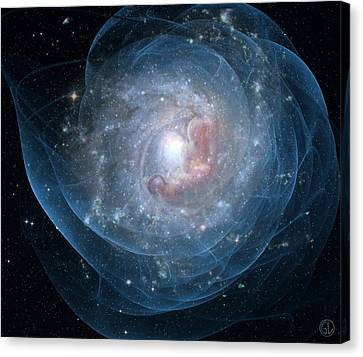 Birth Of A Galaxy Canvas Print by Gun Legler