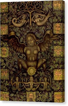 Birth Of The Greenman Canvas Print by Diana Perfect