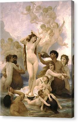 Birth Of Venus Canvas Print by William Bouguereau