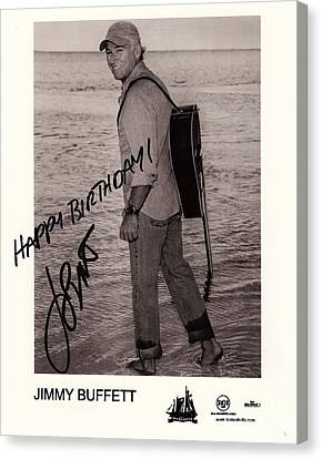 Birthday Wishes From Jimmy Buffett Canvas Print by Desiderata Gallery