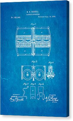 Bissell Carpet Sweeper Patent Art 1876 Blueprint Canvas Print by Ian Monk