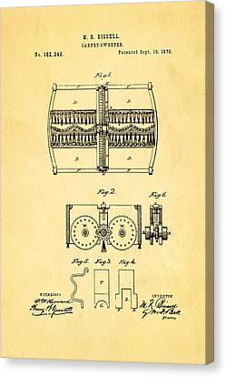 Bissell Carpet Sweeper Patent Art 1876 Canvas Print by Ian Monk