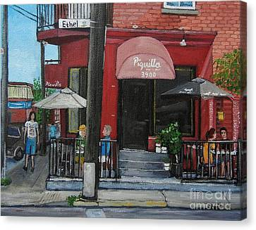 Bistro Piquillo In Verdun Canvas Print by Reb Frost