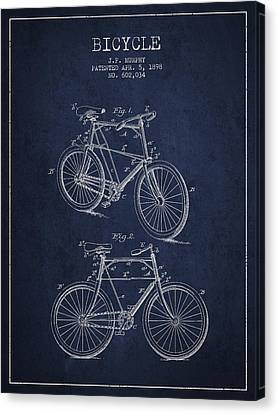Bisycle Patent Drawing From 1898 Canvas Print by Aged Pixel