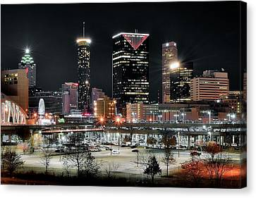 Atlanta In Black And Color Canvas Print by Frozen in Time Fine Art Photography