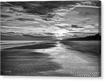 Black And White Beach Canvas Print by Phill Doherty
