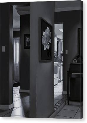 Black And White Foyer Canvas Print by Tony Chimento