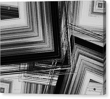 Black And White Geometric Art Canvas Print by Mario Perez