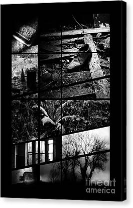 Black And White Irish Landscape Photography.1 Canvas Print by James Clancy