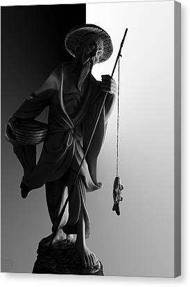 Black And White Ivory Fisherman Canvas Print by Sean Kirkpatrick