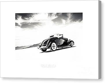 Black And White Salt Metal Canvas Print by Holly Martin