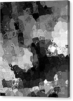 Black And White Spots Art  Canvas Print by Mario Perez
