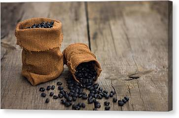 Black Beans Canvas Print by Aged Pixel