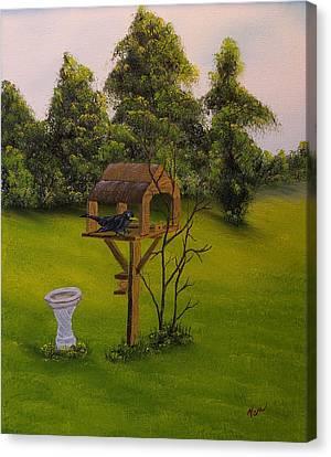 Black Bird On My Mind Canvas Print by Edward C Van Wicklen Sr