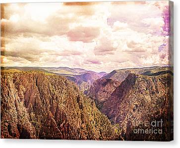 Black Canyon Colorado Canvas Print by Janice Rae Pariza