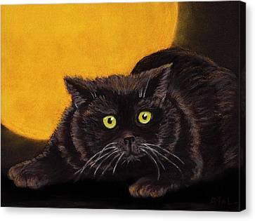 Black Cat Canvas Print by Anastasiya Malakhova