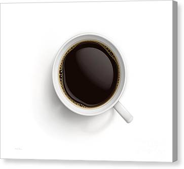 Black Coffee Canvas Print by Cheryl Young