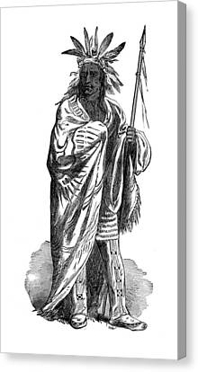 Black Hawk, Sauk Indian Leader Canvas Print by British Library