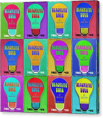 Black Light Bulbs Poster Canvas Print by Tony Rubino
